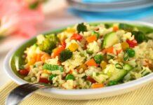 Risotto aux légumes et poulet