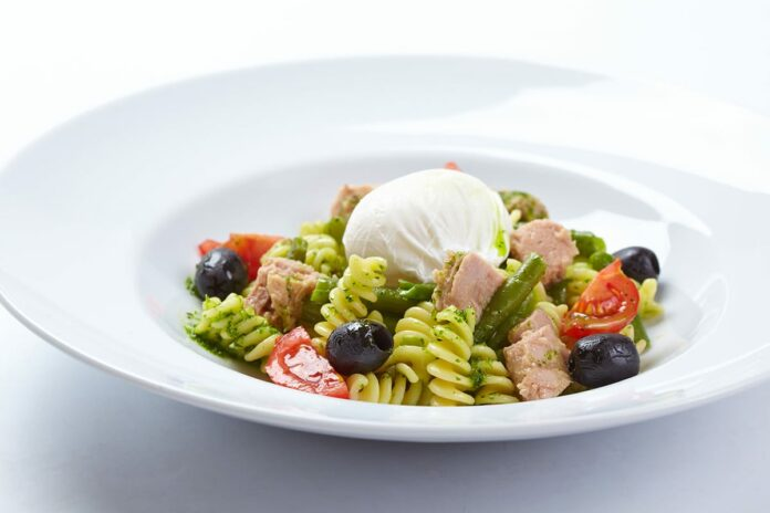 Salade de pâtes et mozzarella