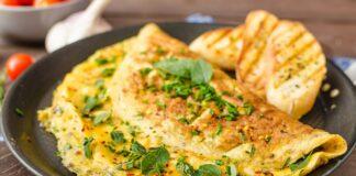 Omelette au chou-fleur