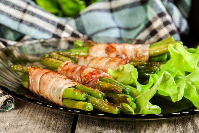 Rouleaux de haricot vert et bacon