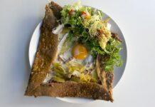 Galette de sarrasin au jambon et oeufs