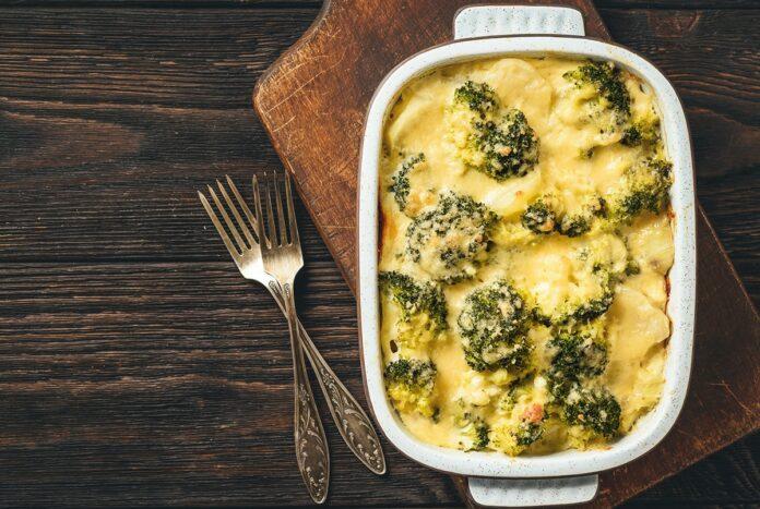 Gratin de brocoli et jambon