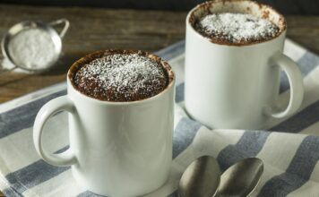 Mug cake au chocolat sans oeufs
