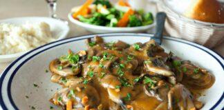 Blanquette de poulet aux champignons facile
