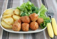 Boulettes de poisson aux pommes de terre et courgettes