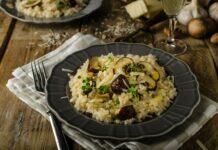 Riz aux champignons et parmesan