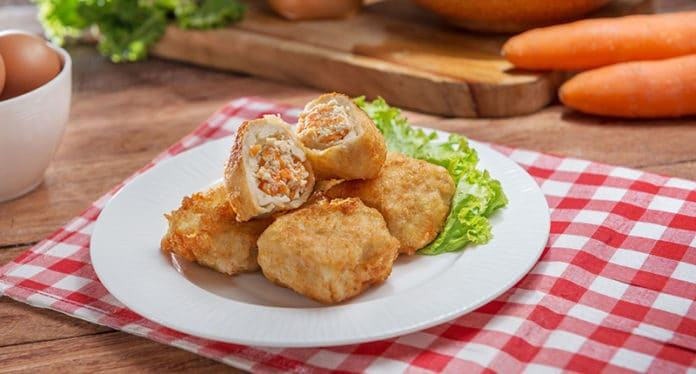 Boulettes de poisson et légumes