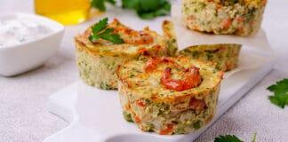 Flans coupe faim aux légumes et son d'avoine
