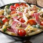 La délicieuse salade de pâtes à l'italienne