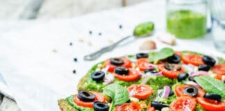Pizza de courgettes au pesto