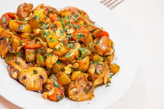 Poêlée de légumes et champignons