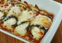 Roulés d'aubergines au jambon et mozzarella