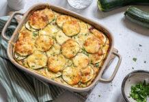 Pommes de terre et courgettes gratinées