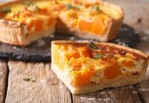 Tarte salée au potiron, oignon et fromage
